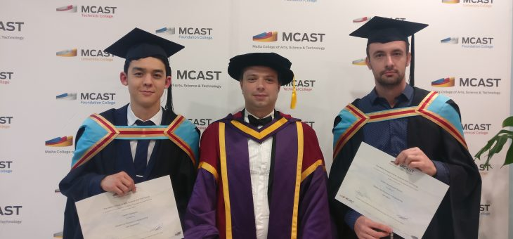 The First Masters by Research (MRes) MCAST Energy post-graduates